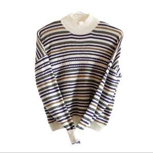 NWOT Ten Sixty Sherman mock neck stripe sweater